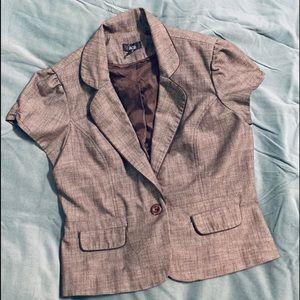 AGB Women's Short Sleeve Jacket Top-Sz 16